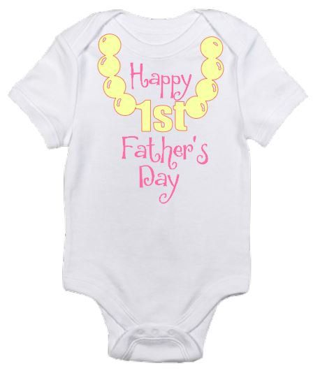 Happy First Father's day gift baby onesie girl boy shirt by ElainesCrafts on Etsy