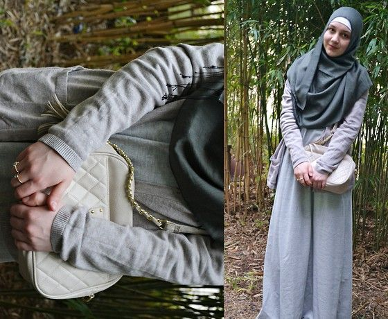 Primark Chain Bag, H Cardigan, Diy By Me Abaya