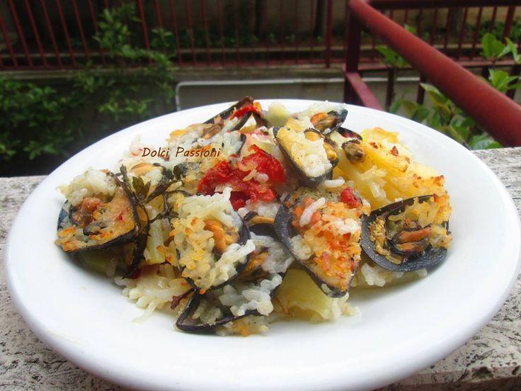 Tiella di riso, patate e cozze. http://www.ricettedipuglia.it/riso-patate-e-cozze-la-ricetta-del-famoso-piatto-barese/