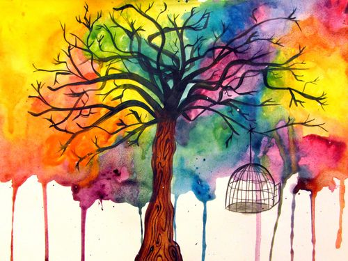 Watercolor: The Beatles, Life Quotes, Watercolor Paintings, Winter Trees, Amazing Artworks, Trees Of Life, Inspiration Pictures, Quotes Art, Watercolor Trees