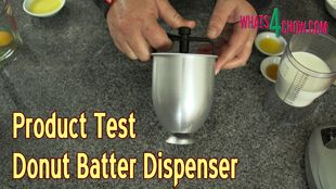 Product Test – Donut Batter Dispenser – with Amazing Donut Batter Recipe!!!
