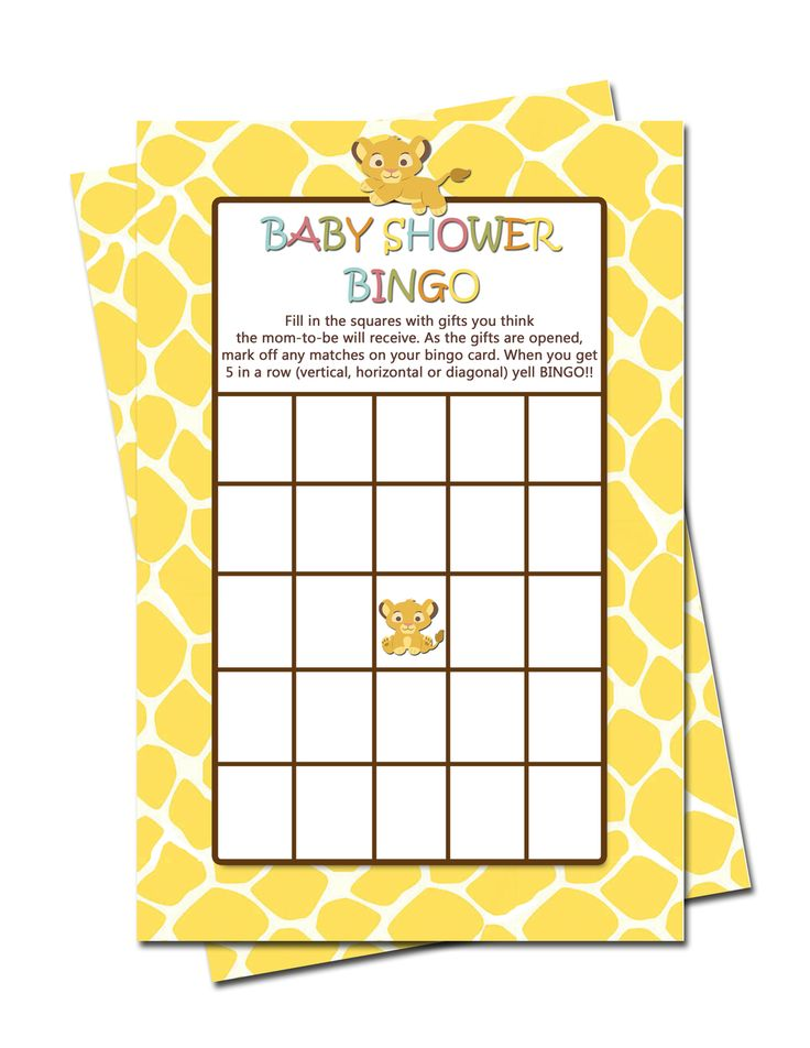 Simba Lion King Baby Shower GAMES Bingo, Word Scramble, Pregnancy and Baby ABC - partyexpressinvitations
