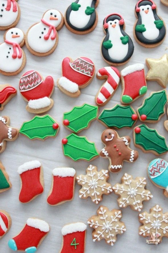 Mini Decorated Christmas Cookies for Advent Calendar Sweetopia