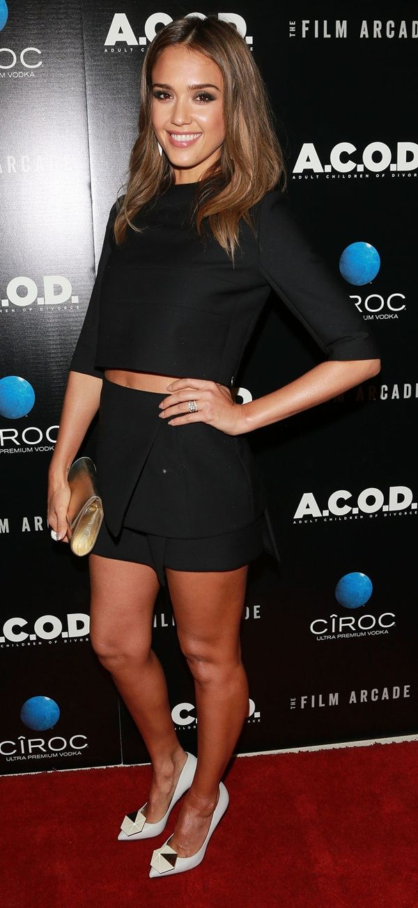 Jessica Alba at the premiere of her new film, 'A.C.O.D.', at the Landmark Theater in Los Angeles, California, on September 26, 2013
