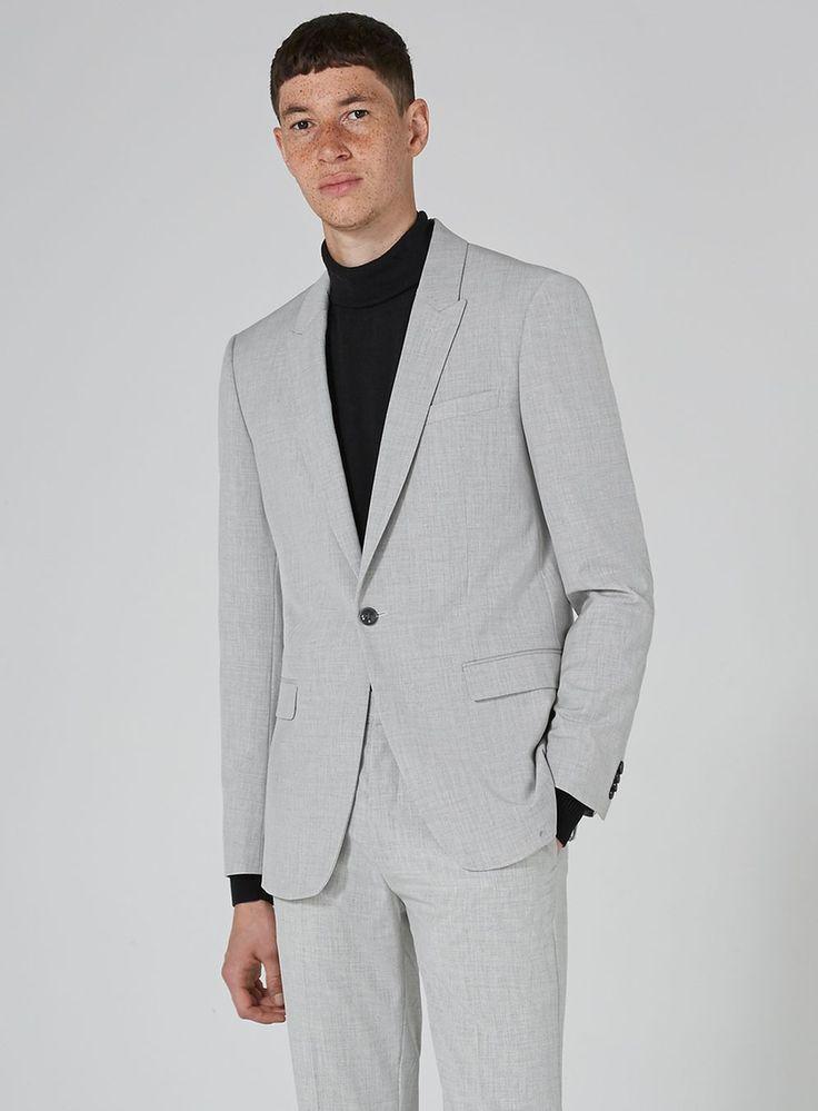 Light Gray Marl Skinny Fit Suit
