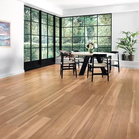 Karndean Looselay Vinyl Flooring Range Llp316 Mountain Spotted Gum Natural Colour With Black Grills And White Walls 1 Pics