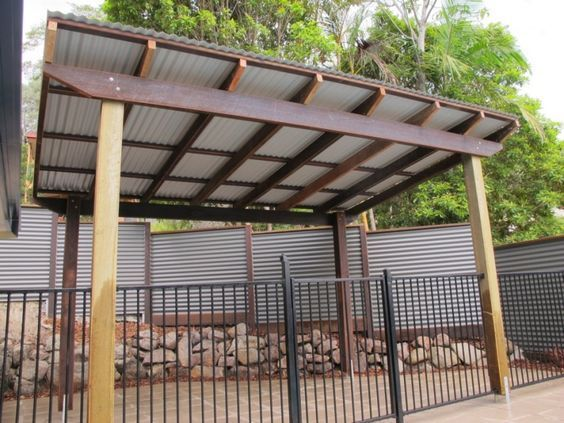 Pergola with Corrugated Metal Roof | ... frame & colorbond ...
