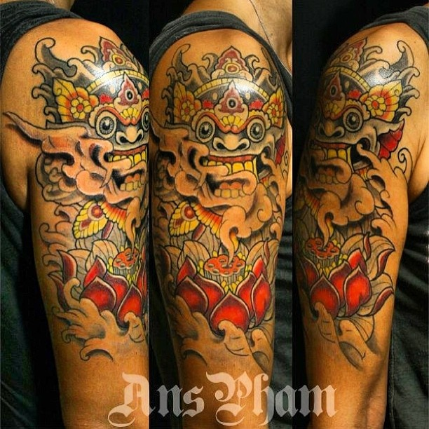my own tattoo mi propio tattoo love barong he is the king of the spirits a protector. Black Bedroom Furniture Sets. Home Design Ideas