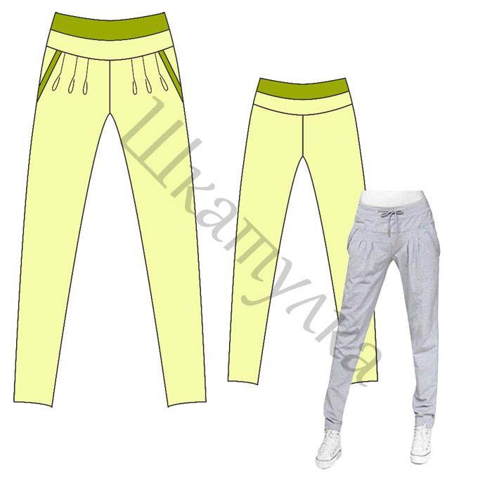 Patrón de los pantalones de los deportes de las mujeres