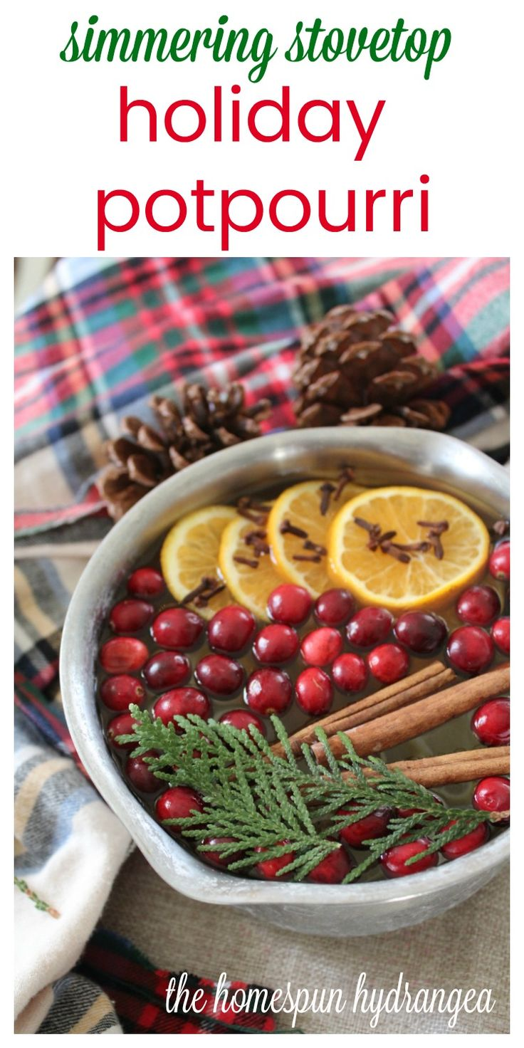 All Natural Simmering Stovetop Holiday Potpourri Recipe! #ChristmasCrafts #Potpourri #Natural