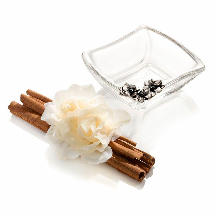 Daisy Centrotavola in cristallo Sovrani arricchito da decorazioni floreali  - Crystal Centrepiece Daisy with refined floreal garnish