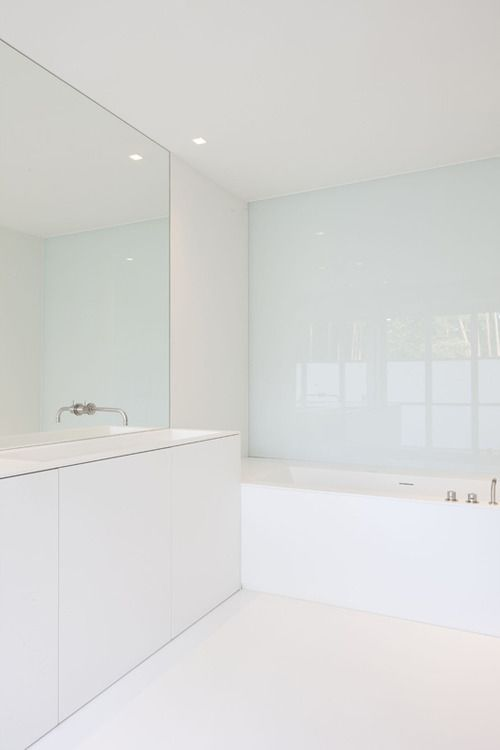 minus   all white bathroom