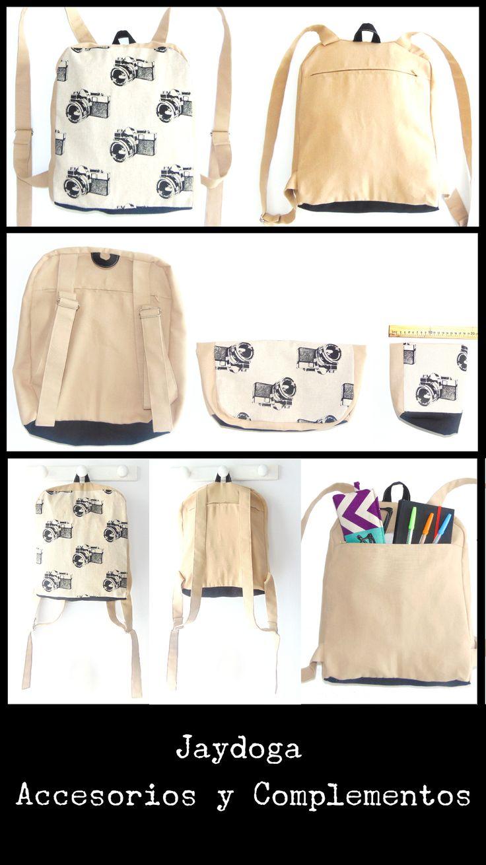 Mochilas de Tela Jaydoga, Mochilas de tela practicas y originales de algodón y lino, un diseño exclusivo y elegante, te encantarán!