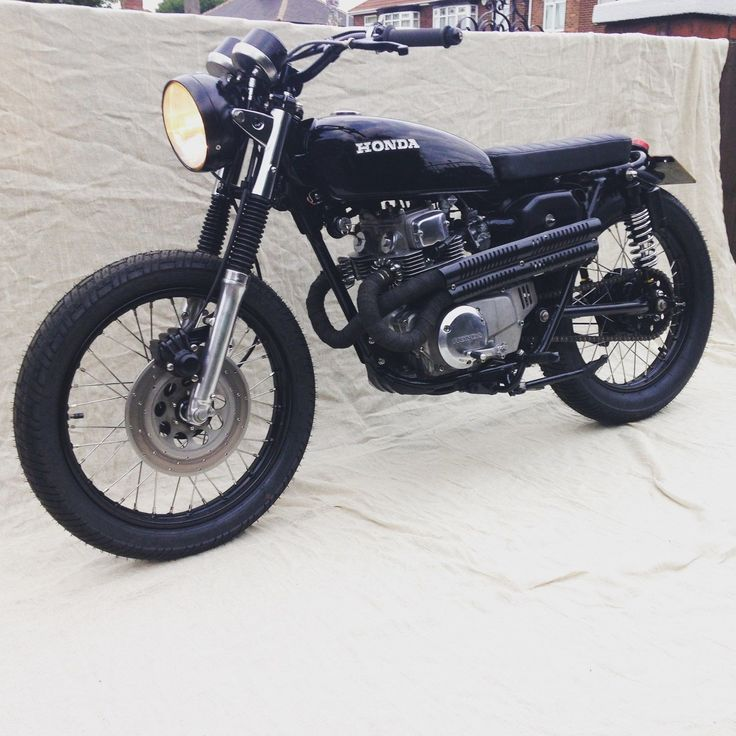 HONDA CB 200 CAFE RACER FLAT TRACKER CUSTOM COOL CL 175 HIGH PIPES BLACK | eBay
