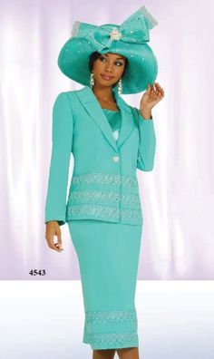 Ben Marc Hats | Ben Marc International 3pc Womens Church Suit 4543 image
