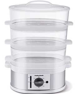 Morphy Richards 470001 3 Tier Steamer - Stainless Steel.