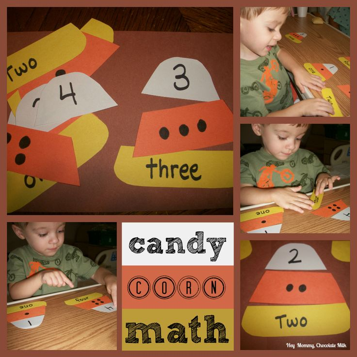 Candy Corn Math with Printables. I love this - it's cute and it teaches number concept.