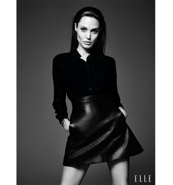 Angelina Jolie ELLE June Cover - Angelina Jolie on Her Rebellious Past - Elle / Photos by Hedi Slimane