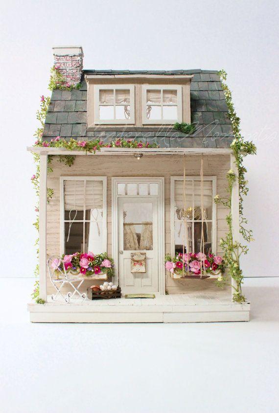 El viejo país casa casa de muñecas por cinderellamoments en Etsy