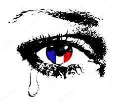 Resultado de imagen para ojo llorando con la bandera de francia