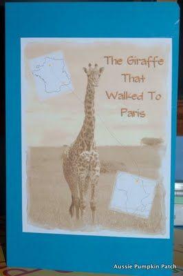 The Giraffe That Walked to Paris - Aussie Pumpkin Patch's lapbook