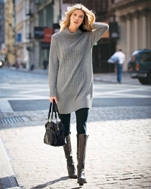 Cashmere Cable Detail Dress: Winter Street Style, Sweater Dresses, Fall Wint, Sweaters Dresses, Cashmere Cable, Street Styles, Details Dresses, Cable Dresses, Cable Details