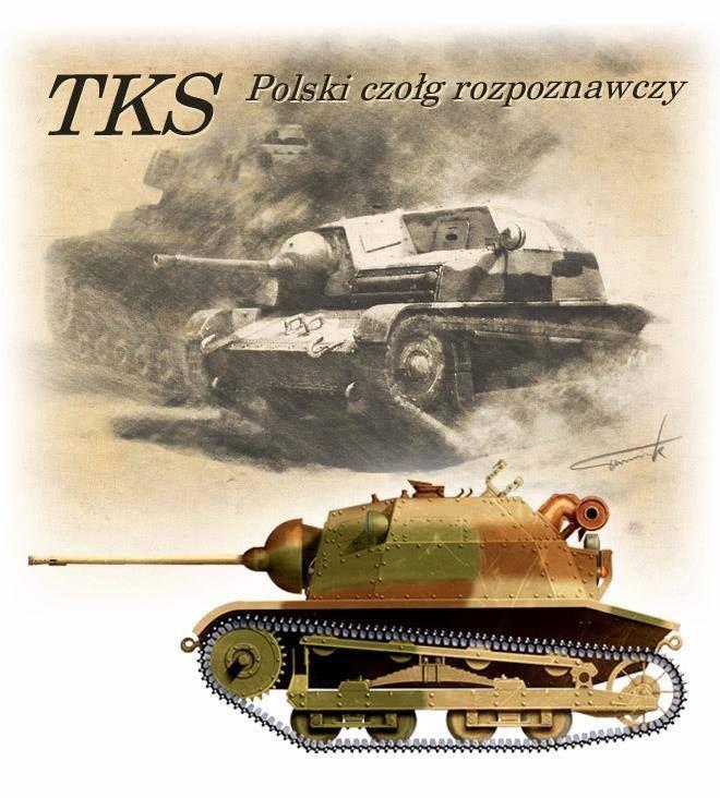 TK-S – polski czołg rozpoznawczy z działkiem 20mm FK.wz.38. Rys. Tomasz Tworek