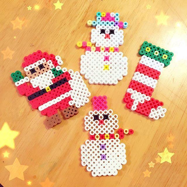 Christmas perler beads by  tomotomoko