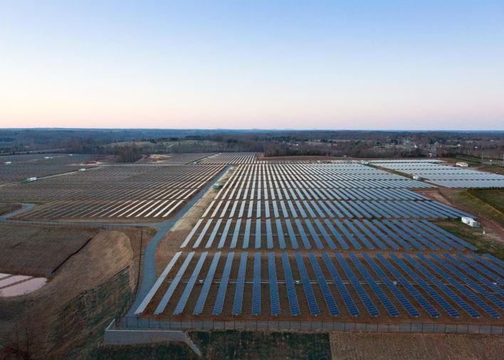 Solar panels powering Apple's data centre in North Carolina