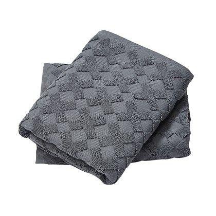 Mette Ditmer Cross håndklæde 70 x 133 cm grå