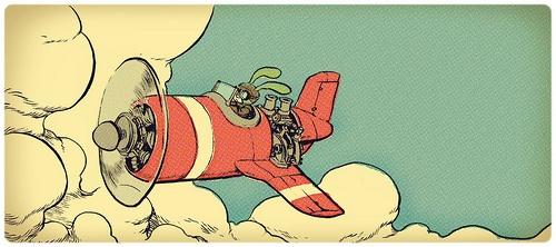 cloudfly by Jake Parker, via Flickr