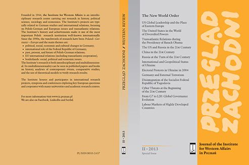 We would like to present Przegląd Zachodni – the journal of the Institute for Western Affairs in Poznań: The New World Order.