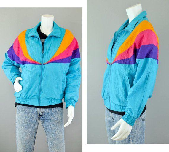 Vintage windbreaker  Color block windbreaker  Hooded  track top  Bright Colors windbreaker  90s windbreaker