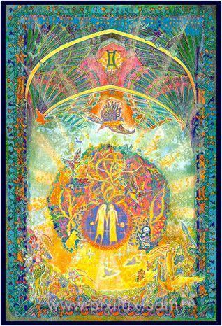 Gemini >Zodiaque céleste - MYRRHA, créatrice, peintre, artiste de l'âme et de la lumière