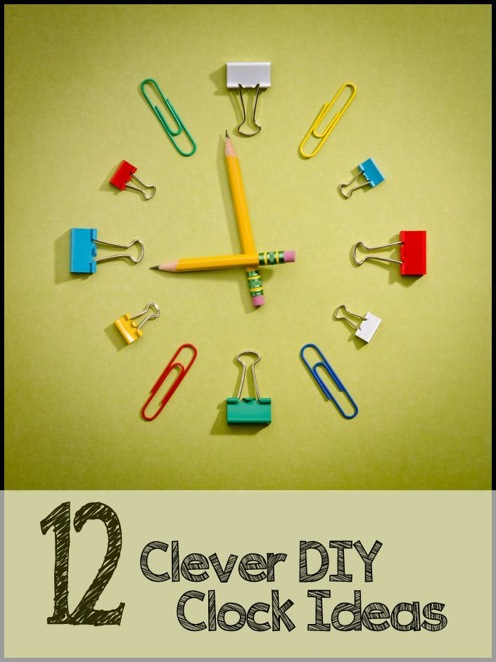 12 DIY Clock Ideas: Like the dominos, record/CD's, and frames with different things representing #'s
