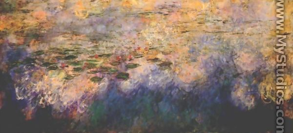 Reflections of Clouds on the Water-Lily Pond (tryptich, center panel) - Claude Oscar Monet