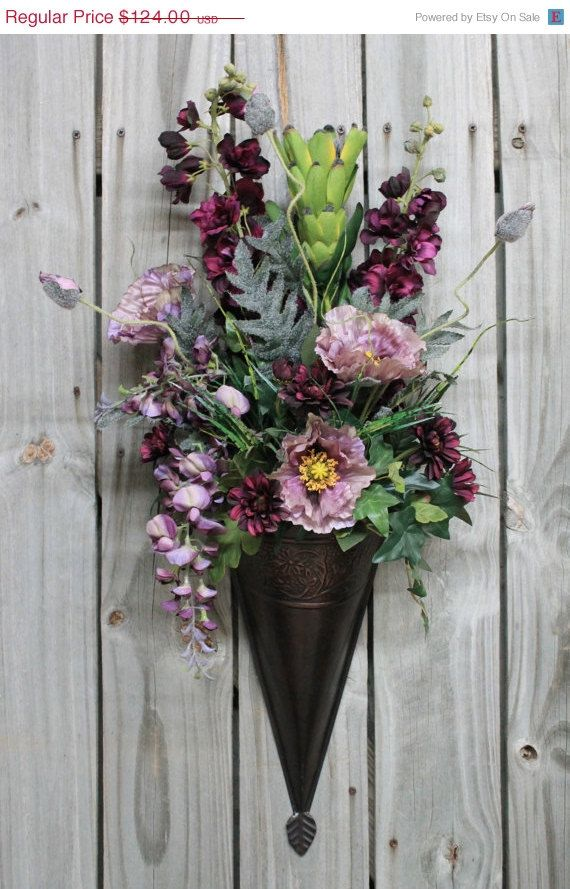 Decorative Wall Sconces For Flowers 19 best wall urn images on pinterest | urn, silk floral