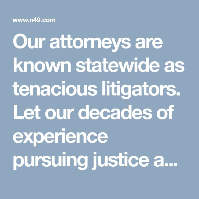Our attorneys are known statewide as tenacious litigators. Let our decades of experience pursuing justice against nursing homes, insurance companies and hospitals assist you in winning your case. https://www.n49.com/biz/1982772/senior-justice-law-firm-fl-boca-raton-33-se-5th-st/