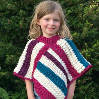 Fall Shades Crochet Poncho  - for back to school