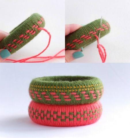 Браслеты из пряжи без вязания / Прочие виды рукоделия / Другие виды рукоделия