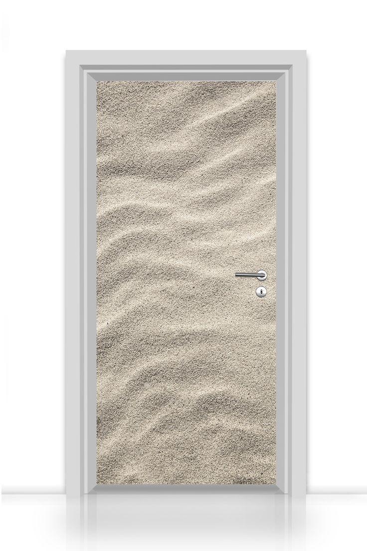 Deine Strandsandtür - selbstklebende Türtapete - Premium Qualität - kinderleicht zu verkleben! Printerieur von codiarts - Interieur Design frisch und individuell gedruckt auf hochwertigen Medien - deutsche Qualitätsproduktion kombiniert mit exklusiven Motiven von codiarts