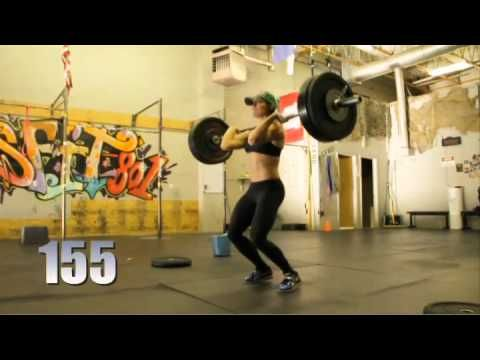 CrossFit - Power Clean, Hang Clean Demo with Miranda Oldroyd