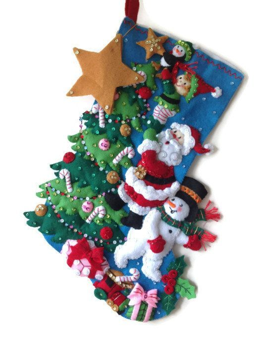 Finished Bucilla Christmas Stocking  The by PinsandNeedles0, $84.95