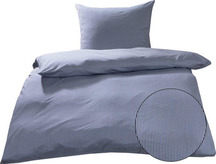 Jersey Bettwasche Mako Interlock Jersey Bettwasche Streifen Blau