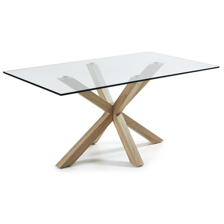 409 mesa rectangular con un moderno dise o de patas de - Patas de mesa de madera ...
