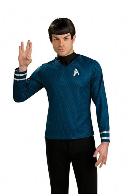 Spock Star Trek Vulcan Wig - Live long and prosper. This wig has the straight cut bangs and the triangular side burns. Perfect to go with your Star Trek science shirt. Perfect for the Star Trek convention. #startrek #vulcan #wig #costume #yyc