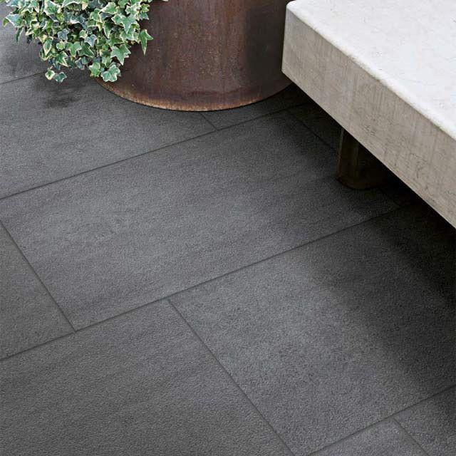 castorama carrelage terrasse noir 30x60 cm oikos 17 90 m2. Black Bedroom Furniture Sets. Home Design Ideas