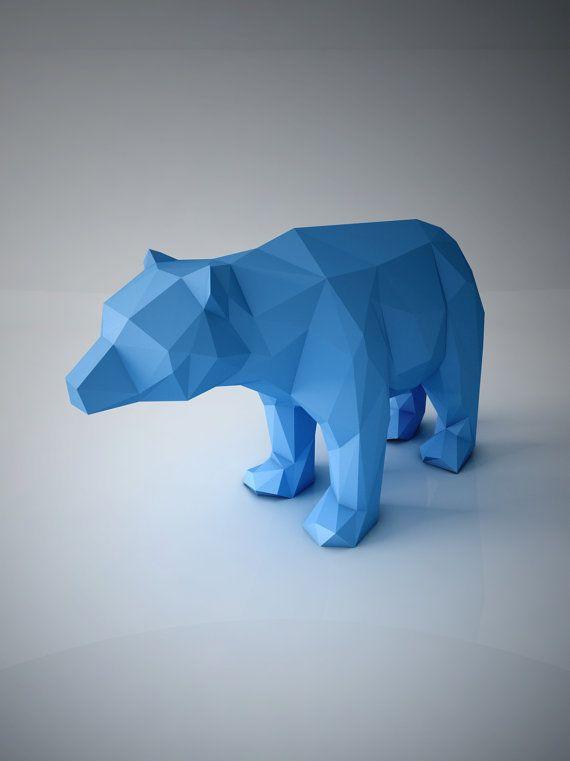 DIY PAPER SCULPTURES Decorative Bear Sculpture от ottockraft