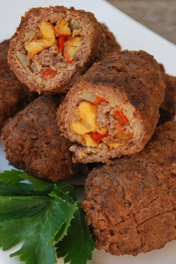 Zrazy is a traditional Polish dish filled with bacon, breadcrumbs, mushrooms, and cucumber is rolled inside a seasoned slice of sirloin beef.  It is then fried or grilled to allow the flavors to blend together.