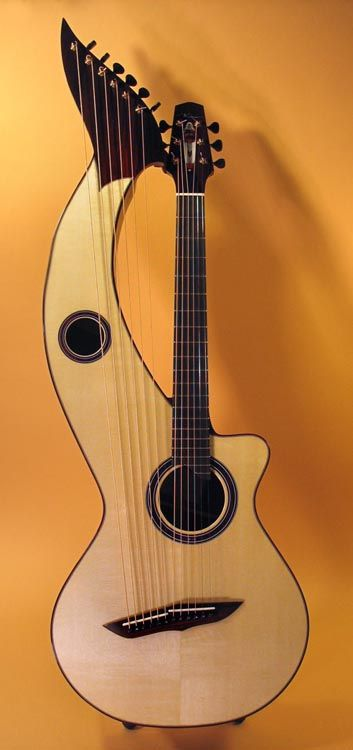 Harp GuitarNeck Guitar, Favorite Music, Music Instruments, Killers Guitar, Harp Guitar, Double Twin, Outer Spaces, Neck Electric, Electric Guitar